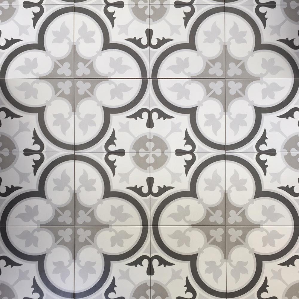 The Marrakech Tile Range Is A Square Porcelain Decor Tile With A Matt Finish And Frost Proof Glaze The Marrakech Floral Floor Tiles Marrakech Tile Tile Floor