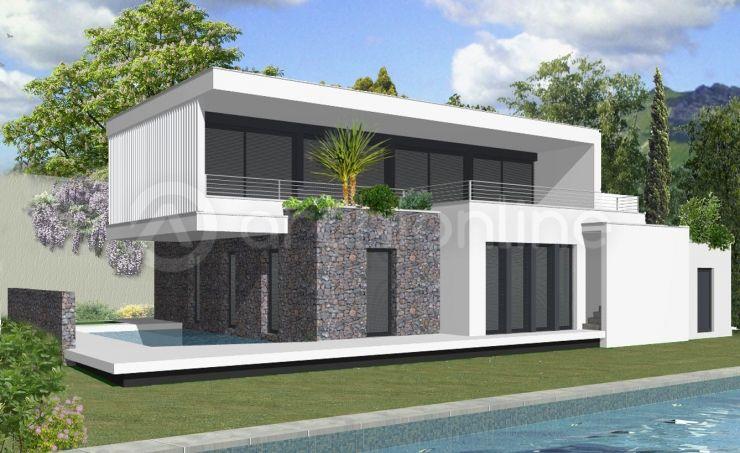 Maison camille une maison moderne con ue par l for Plan de villa contemporaine