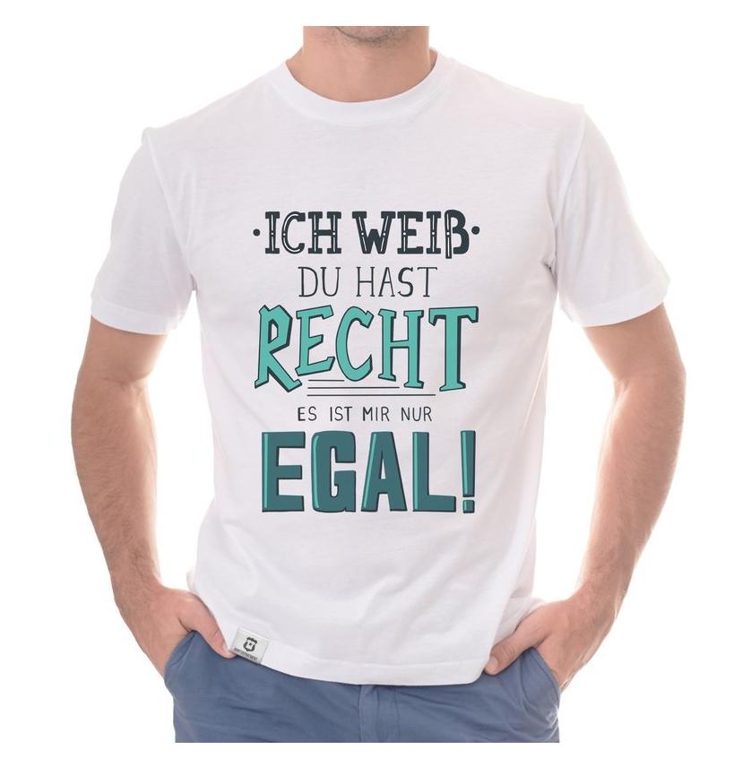 Herren T-Shirt - Ich weiss du hast recht, es ist mir nur