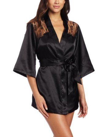 c5c435378f Sexy Black Kimono Intimate Sleepwear Robe Set - 3 Piece Lingerie - Small  Dreamgirl  Dress