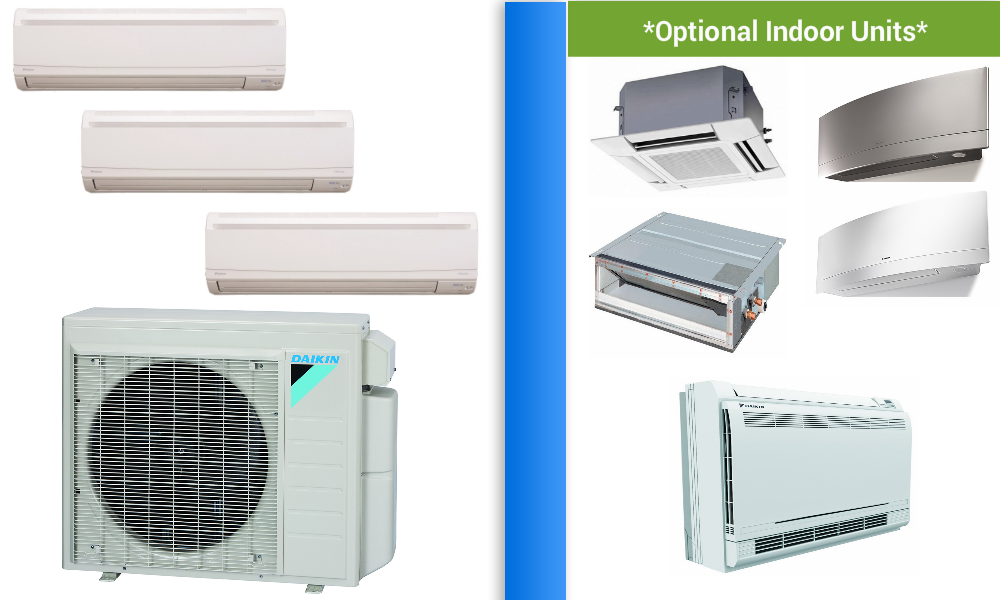 Ductless Split System Ac In Minisplitwarehouse Com Get A Daikin 2 3 Zone 24k Mini Split Heat Pump Ac Sy Ductless Mini Split Heat Pump Heat Pump Air Conditioner
