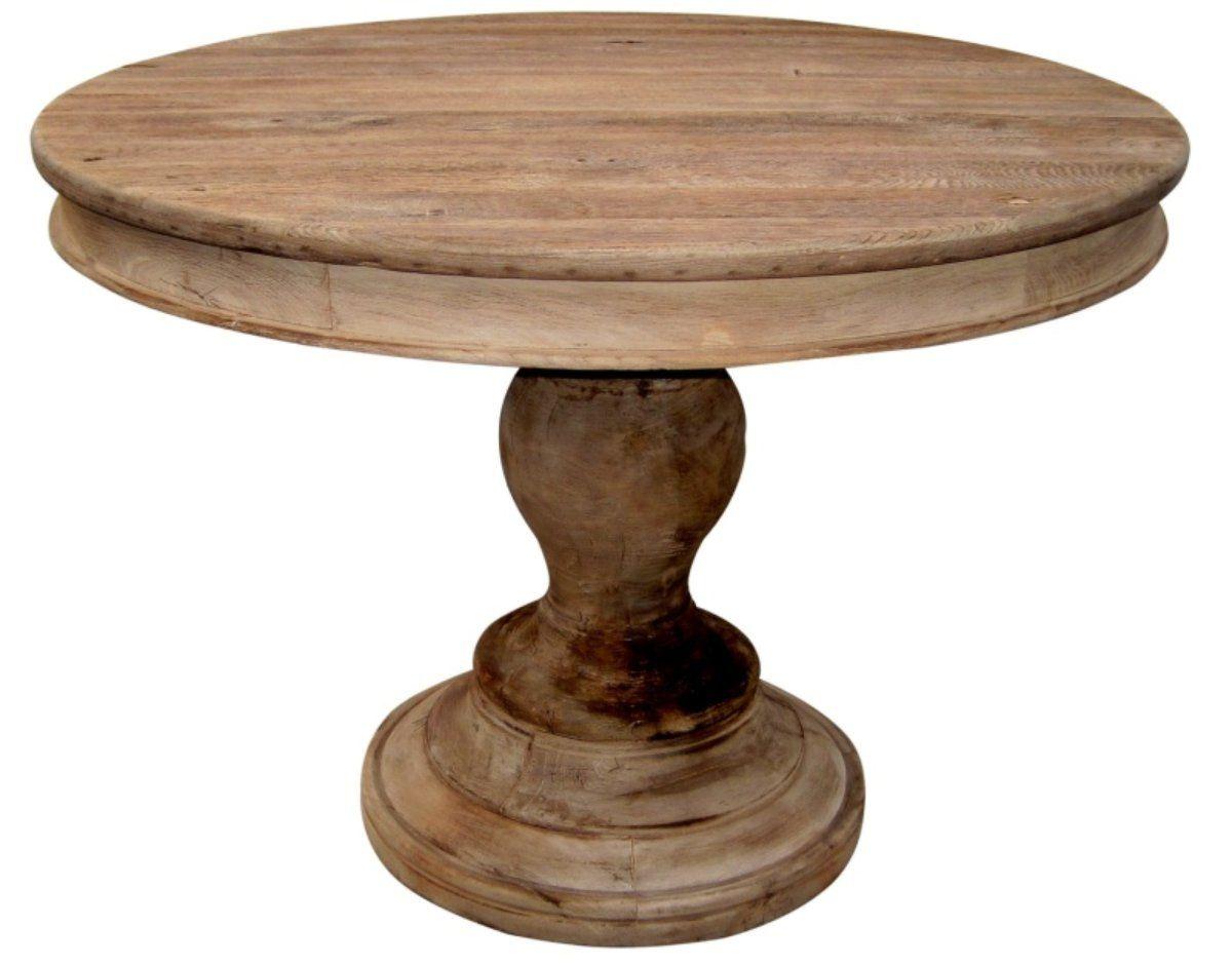 Round Wood Pedestal Table Round Pedestal Dining Rustic Round