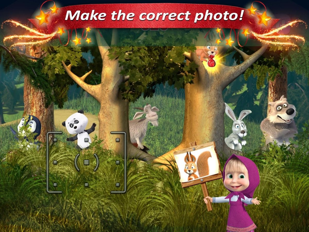 Masha and the Bear Kids Games screenshot Masha y el
