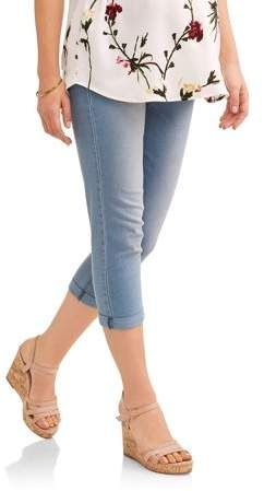 0dbe770283 Oh! Mamma Oh Mamma Maternity Demi Panel Super Soft 5 Pocket Skinny Capri  Jeans -- Available in Plus Sizes