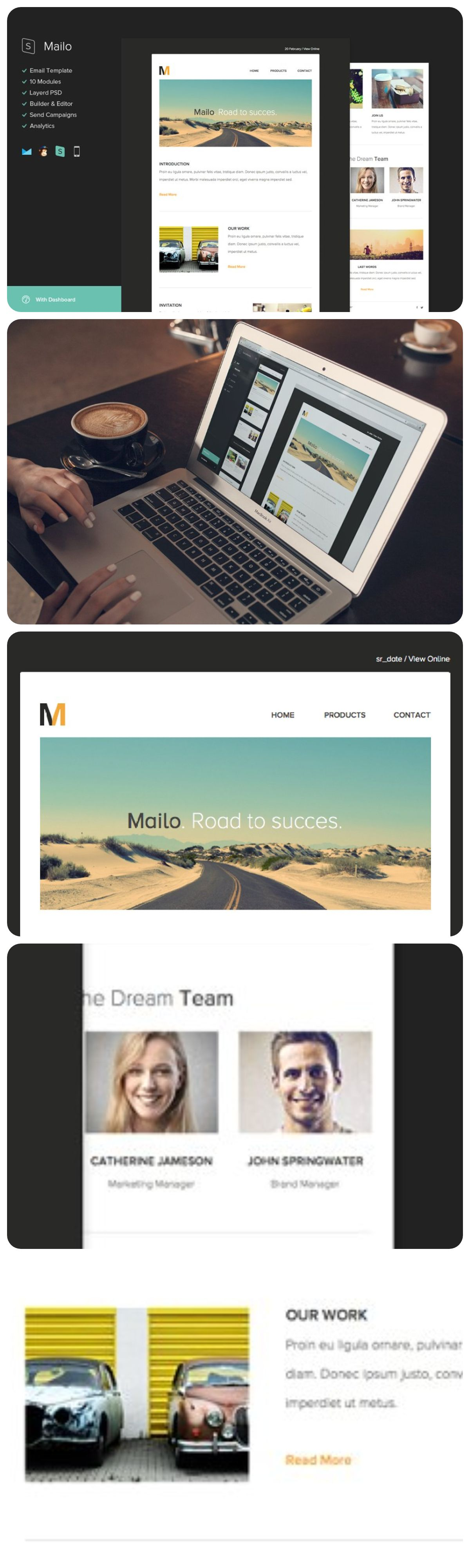 Mailo Email Template + Builder in 2020 Email templates