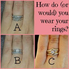 The Right Way To Wear Your Wedding Rings One Nerdy Momma How To Wear Wedding Rings Rings