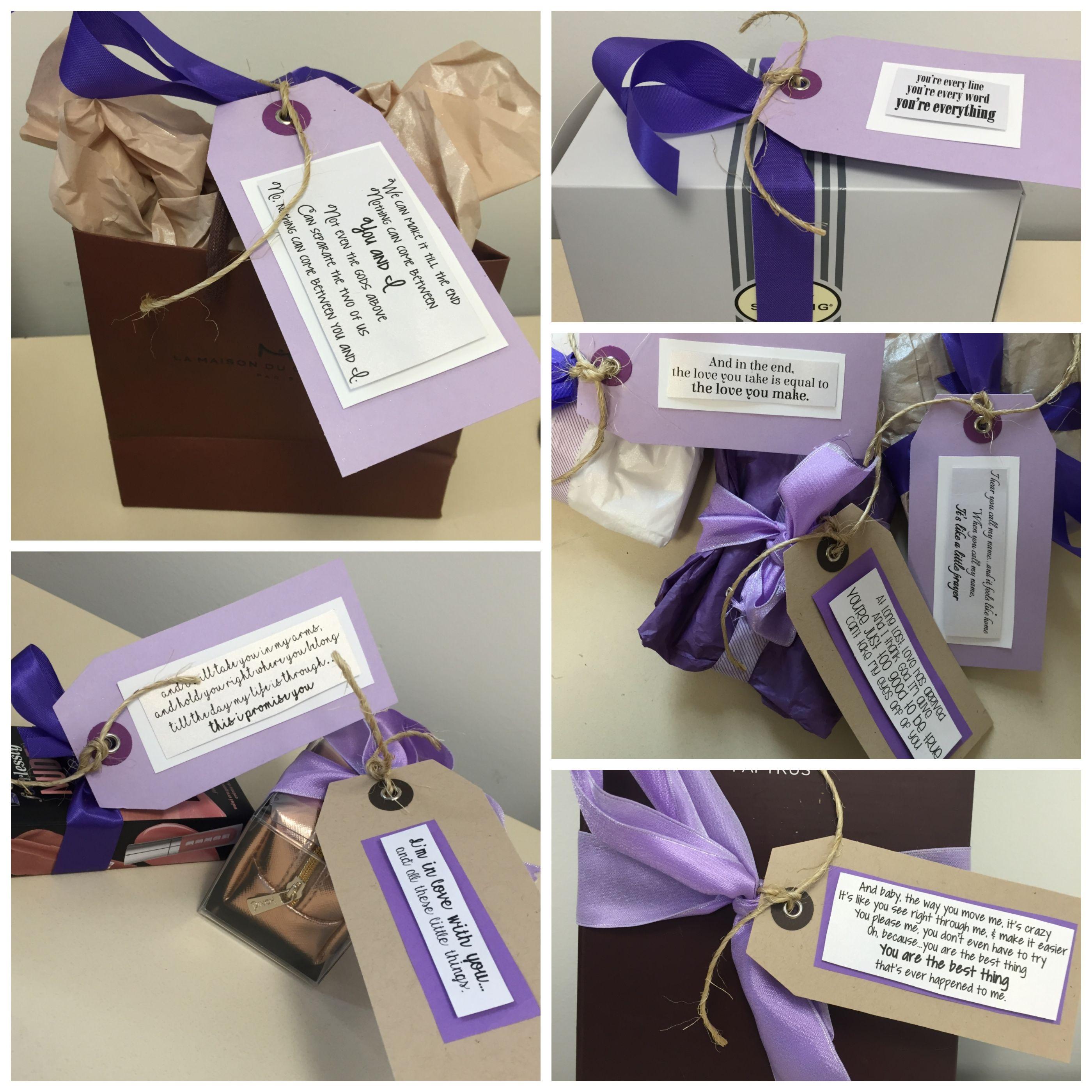 Wedding Bridal Gift Basket Each Card Has Lyrics Of Different