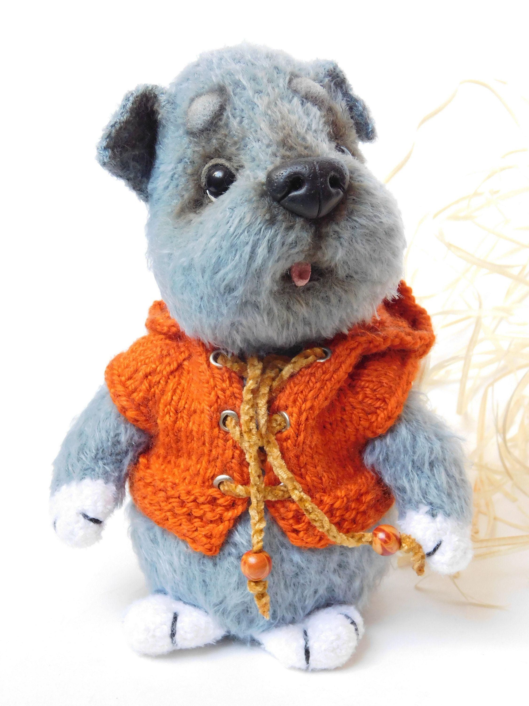 Cute crochet dog toy little puppy soft toy stuffed animal