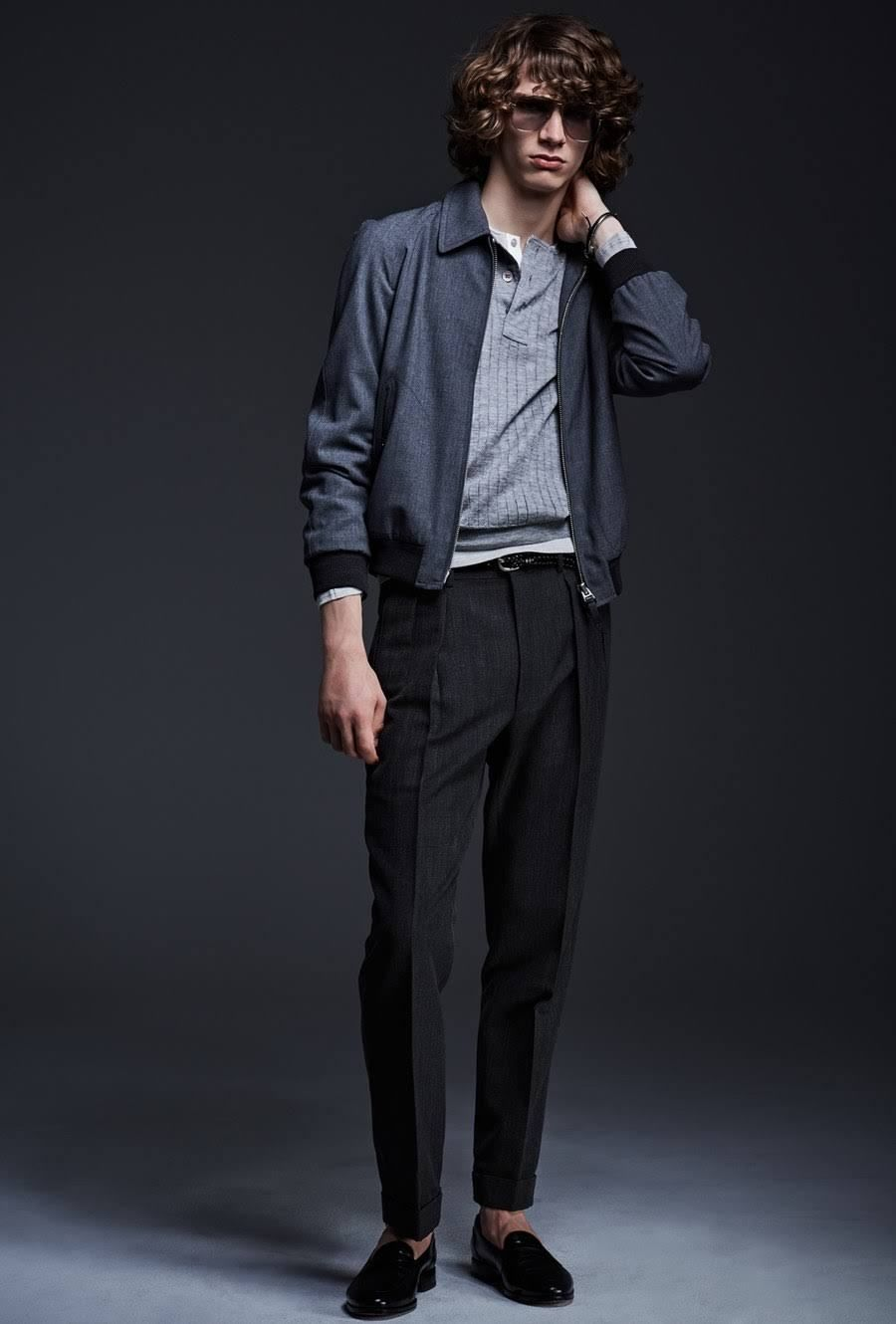 Tom Ford Ss17 Spring Summer 2017 Collection Blue Tailored Casual Men' Fashion