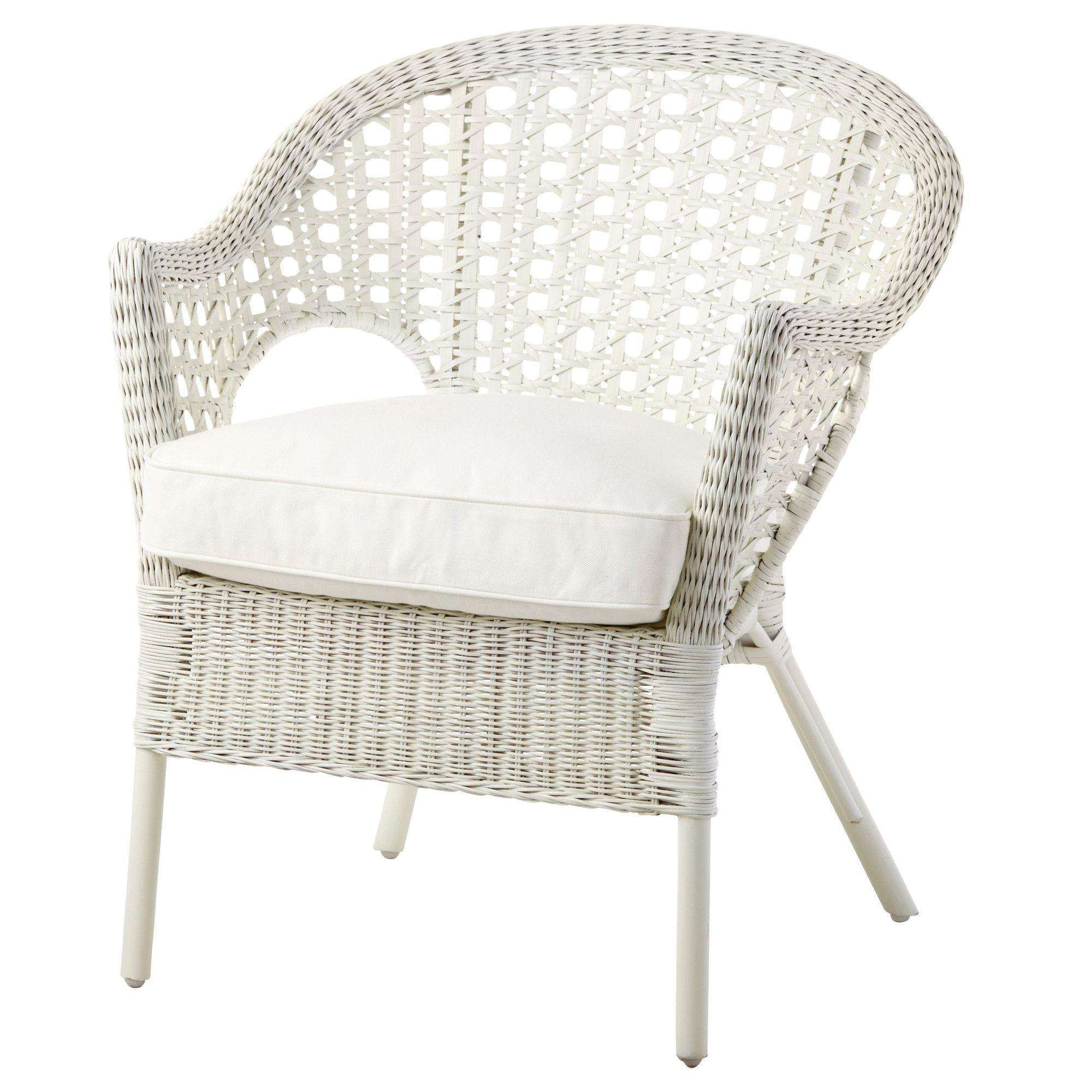 finntorp djupvik armchair with cushion ikea - White Wicker Chair