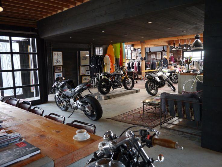 Motorcycle Garage Motorcycle Workshop Motorcycle Man Cave Garage Design Garage House Garage Loft