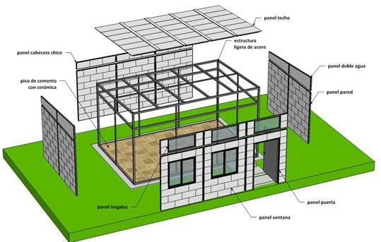El Universal Mexicanos Construyen Casas Ecol Gicas Casas Casas Ecologicas Construccion Casa