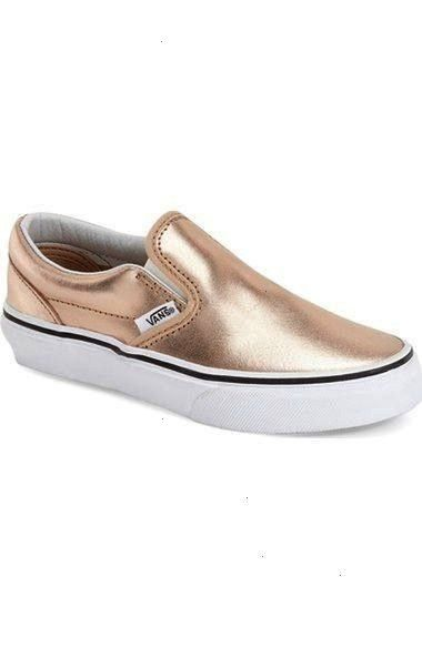 Metallic SlipOn Baby Walker Toddler Little Kid  Big Kid Metallic Leather Rose Gold back to school shoes for little girls candace rose nordstrom Source by UniqueNM ShoesV...