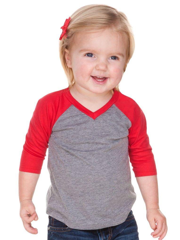 13299fde Infants Sheer Jersey Contrast V Neck Raglan 3/4 Sleeve Camisas De Vinilo,  Camisas