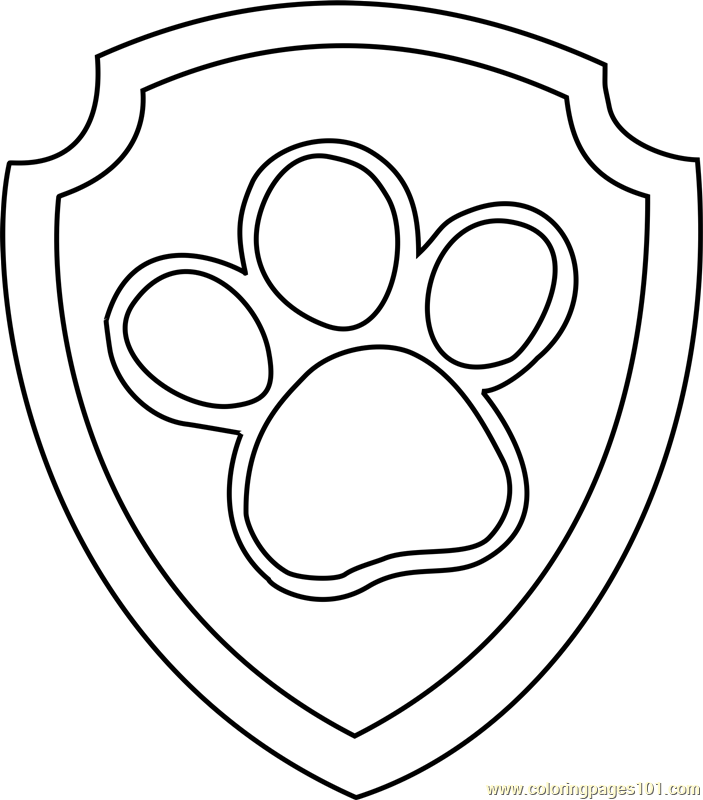 Ryder Badge Coloring Page Free PAW Patrol Coloring Pages - 703x800 ...
