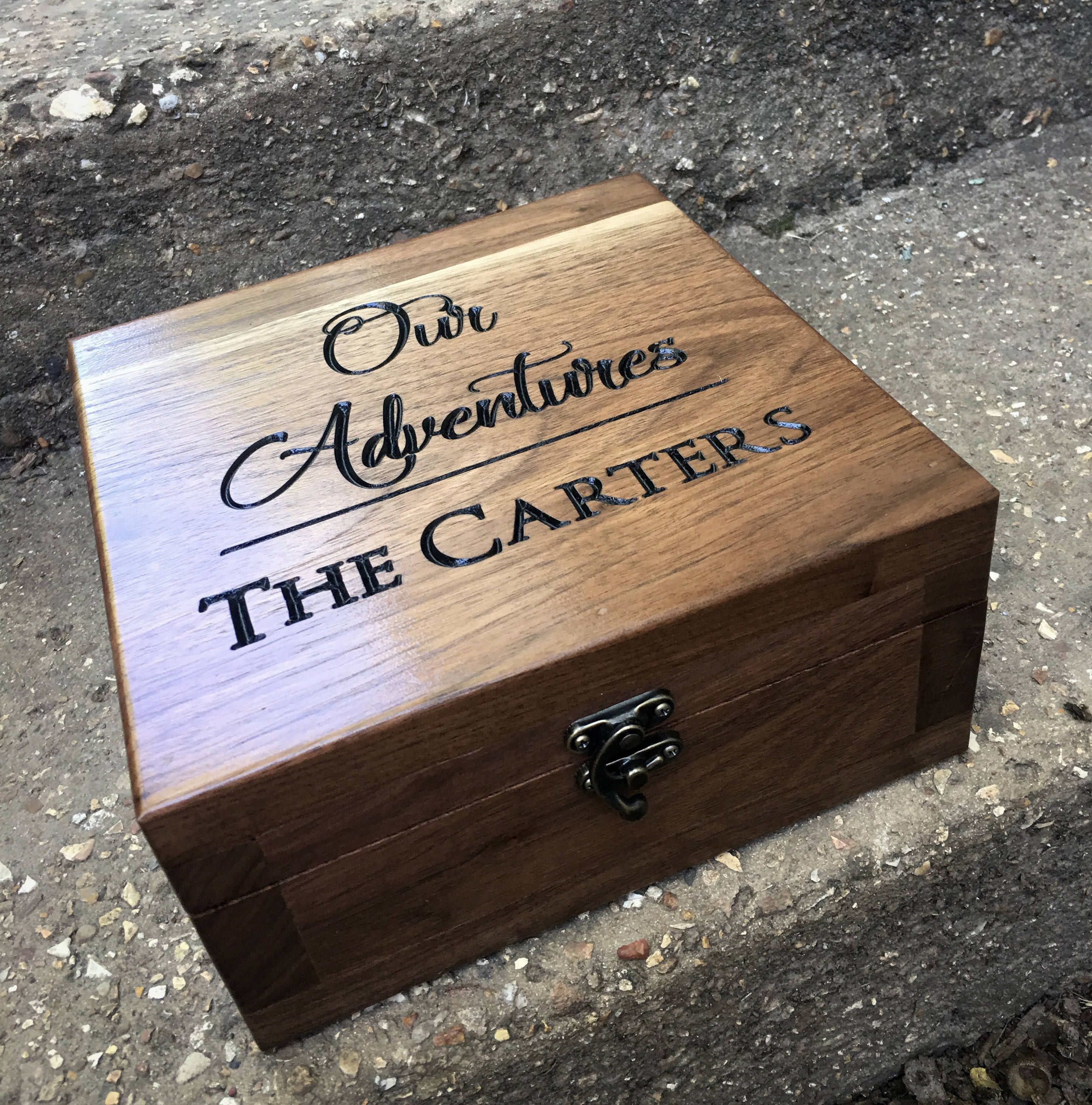 Walnut Box Adventure Box Wedding Gift Gift For Him Gift For