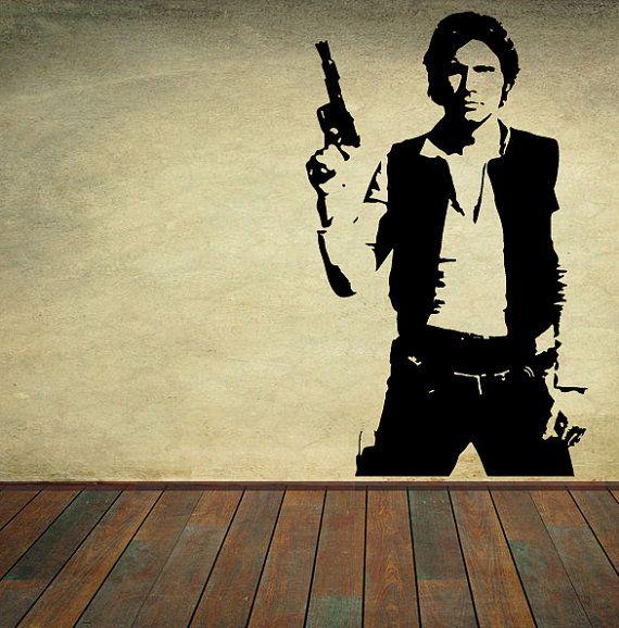 Star Wars Vinyl Wall Decal Wall Decor Han Solo Sticker Home Decor ...