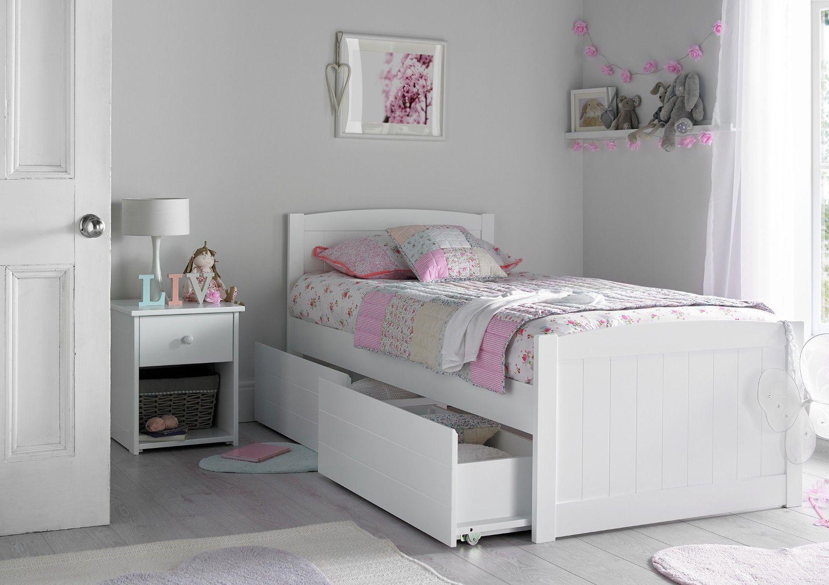 Portland Solo White Bed Frame Habitaciones Juveniles Dormitorio
