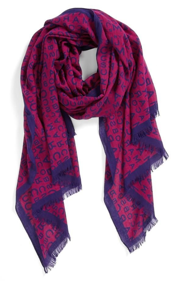 MARC BY MARC JACOBS Logo Scarf | Pop of Color | Pinterest ...