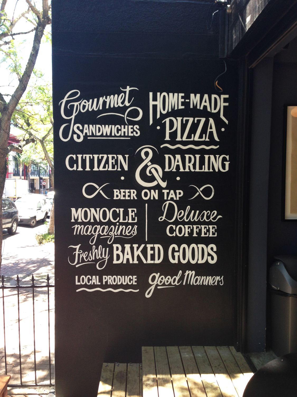I Was Commsioned By The Yourstruly Deli In Cape Town To Design A Wall Of Hand Drawn Custom Lettering That Communicated A F Sign Writing Cafe Signage Typography