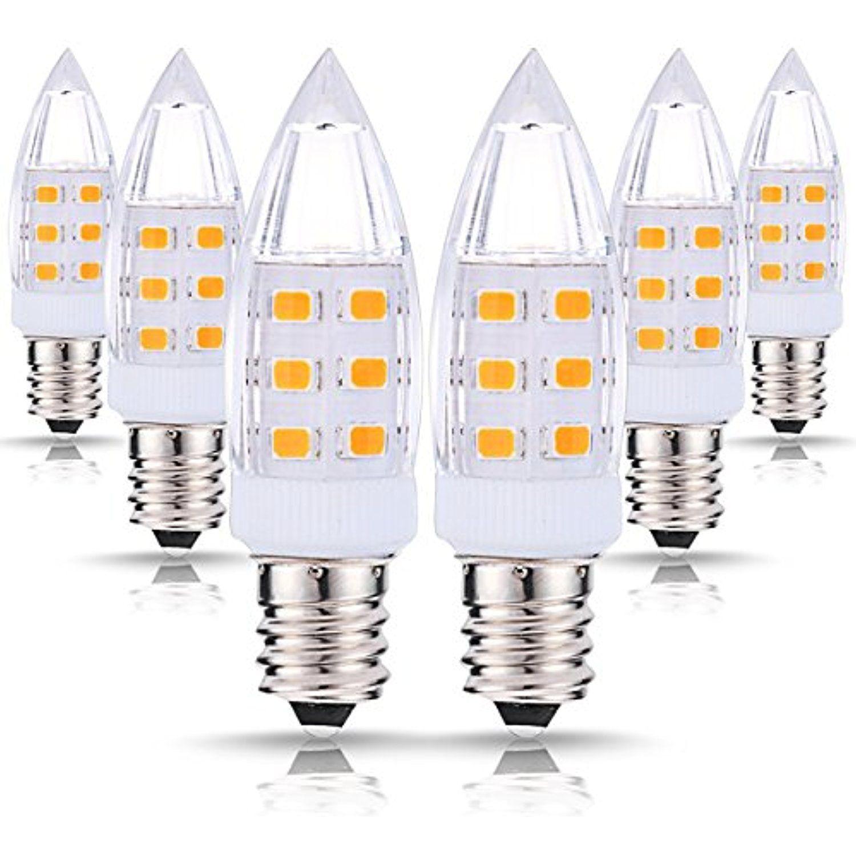 JCase LED C7 Night Light Bulbs, 0.8W (7W Incandescent
