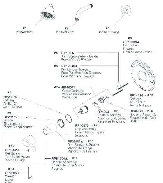 delta shower faucet repair diagram a