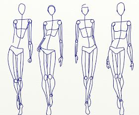 2018 年の fashion sketch club the artists stick figure 絵の手本
