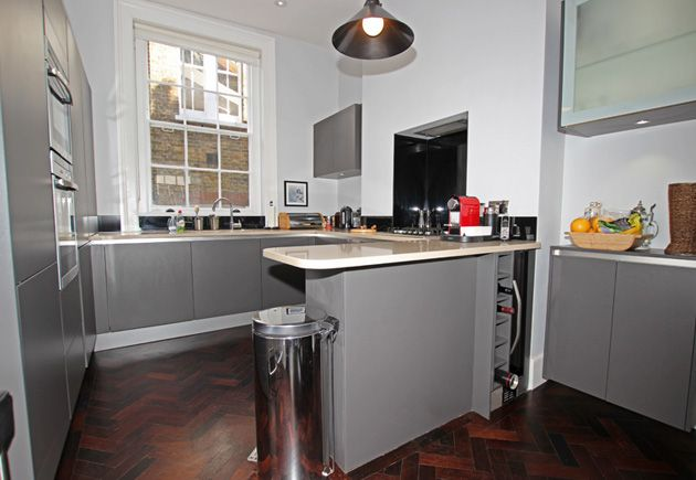 Matt Laminate Anthracite Kitchen, Proving That Darker Finishes Can Work  Successfully For Small Kitchen Designs