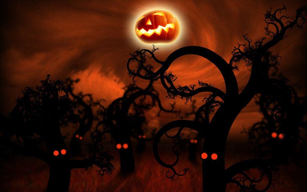 Midnight Forest Halloween Wallpaper Halloween Wallpaper Halloween Pictures Halloween Desktop Wallpaper