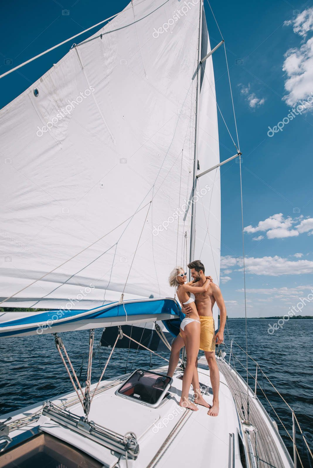 Summer Boating Yacht Curated Stock Photo Sail Ship With