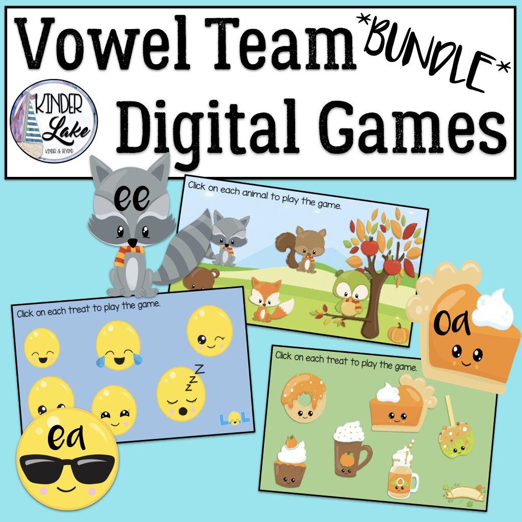 Vowel Teams Activity Interactive Digital Games Bundle