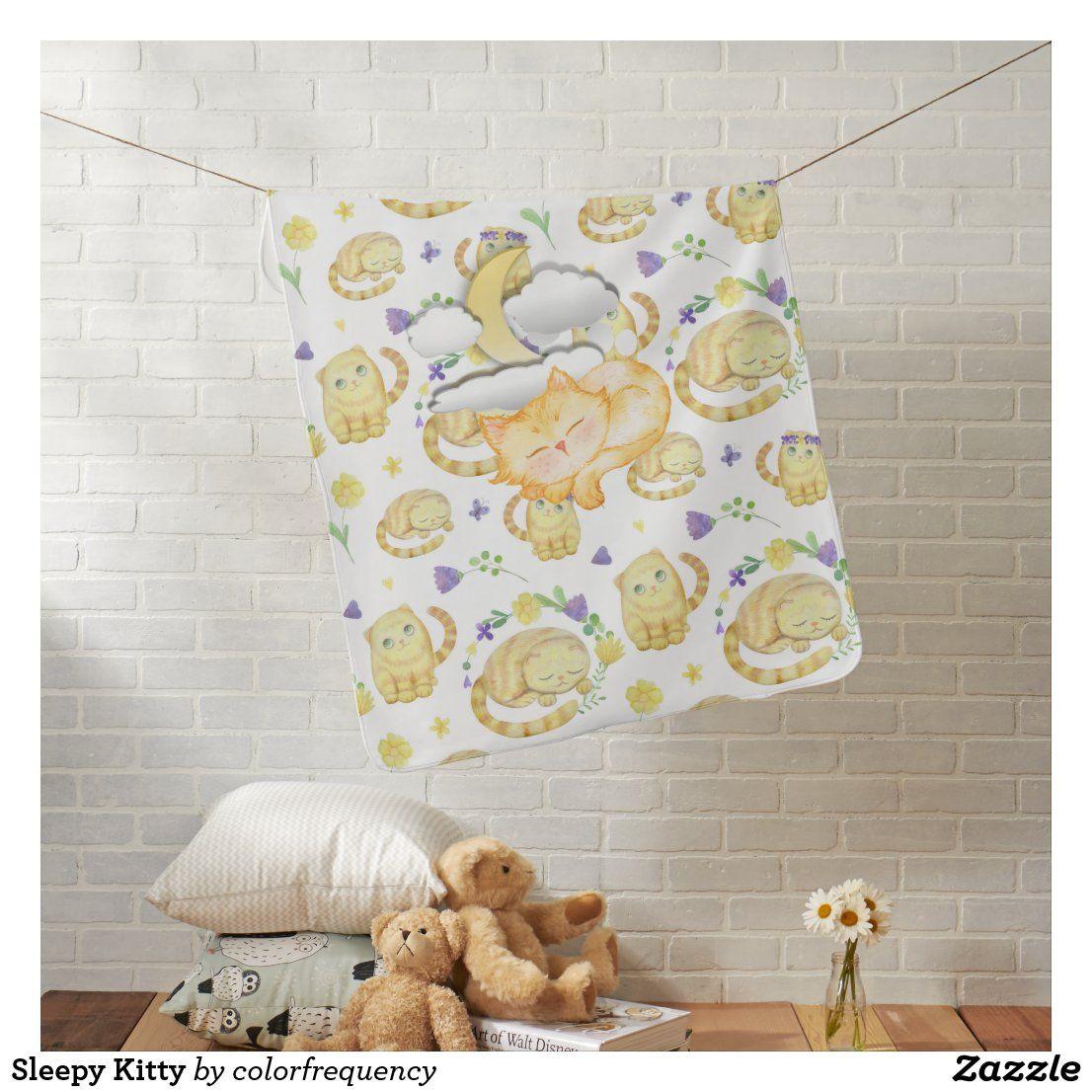 Sleepy Kitty Baby Blanket | Zazzle.com