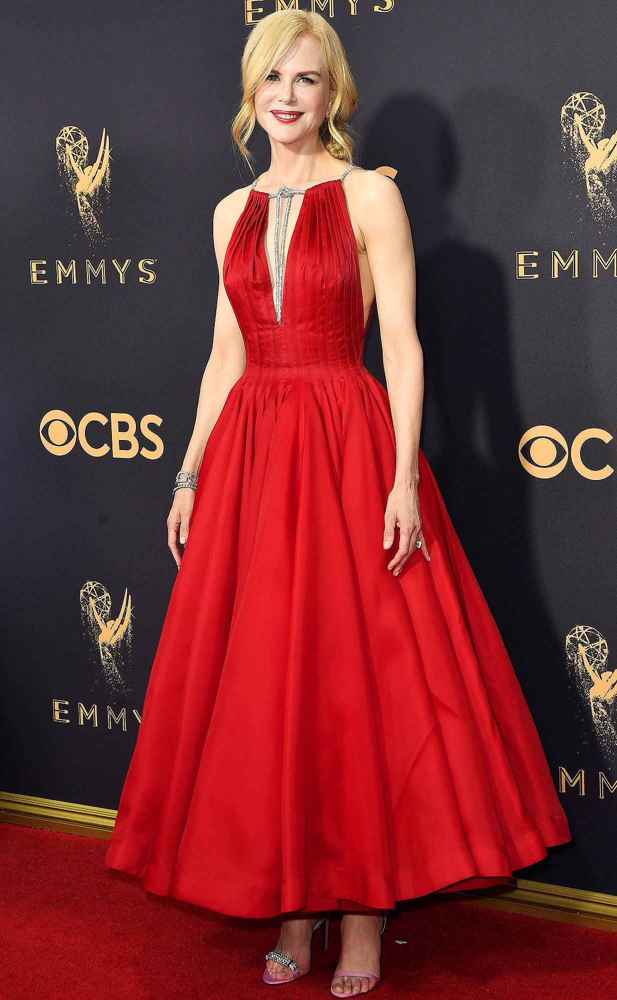 Lady in Red! All the Details on Nicole Kidman\'s Emmys Dress ...