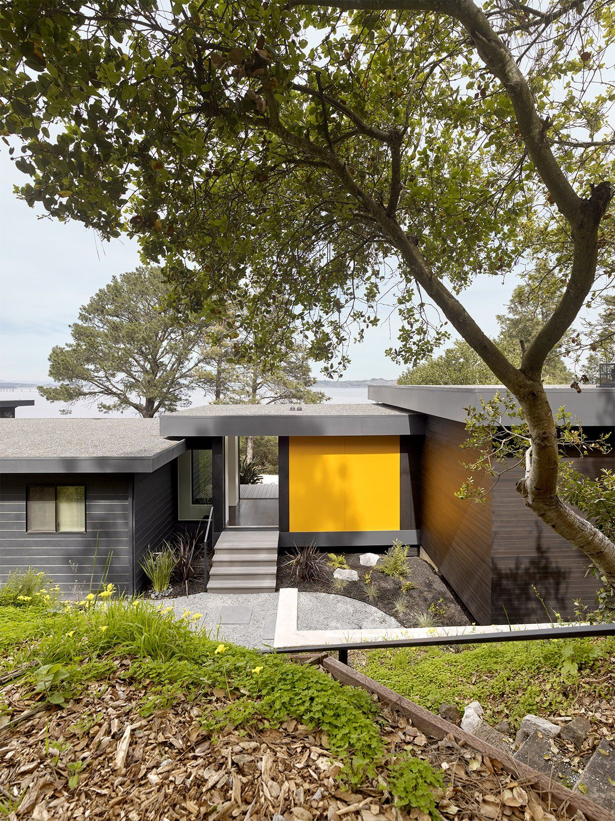 Photo 4 Of 4 In An Addition To A 1955 Modern Home Maximizes Views Of House Design Photos Exterior Siding Materials Wood Siding Exterior