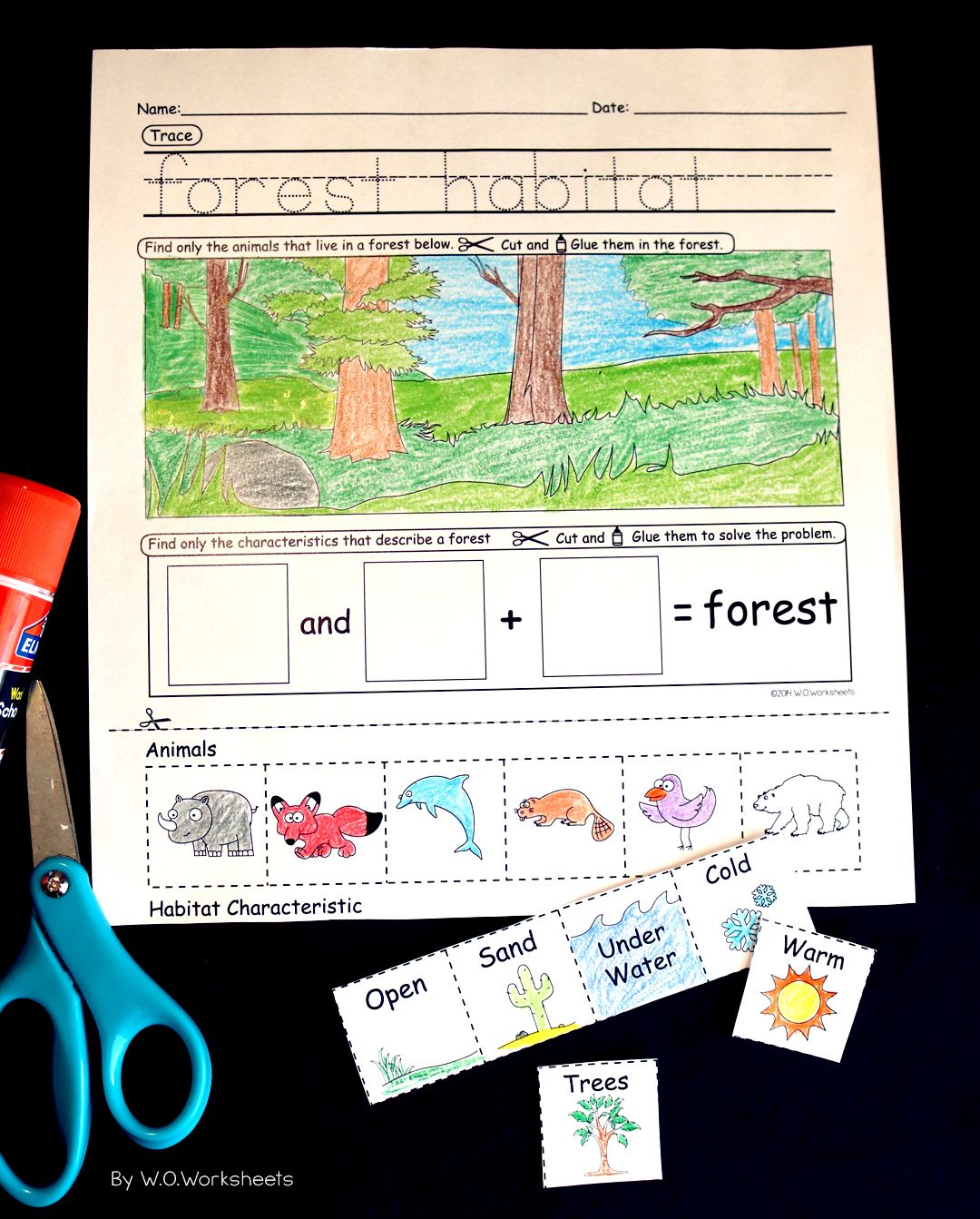 Animal Habitat Worksheets That Provide Visuals To