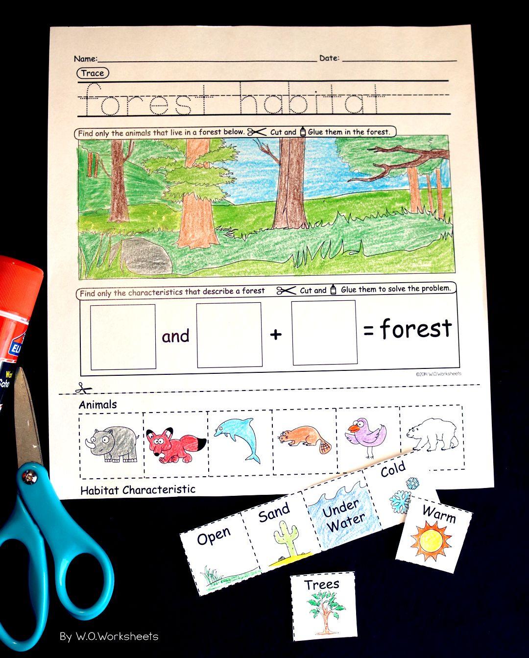 Animal Habitat Worksheets That Provide Visuals To