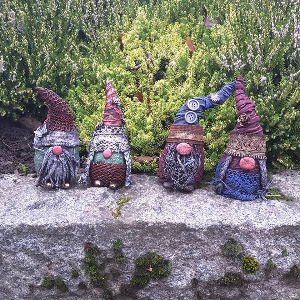 Powertex Garden Gnomes Workshops County Durham Uk Curiously Contrary Www Curiously Contrary Co Uk Gnomes Etsy Gnome Garden