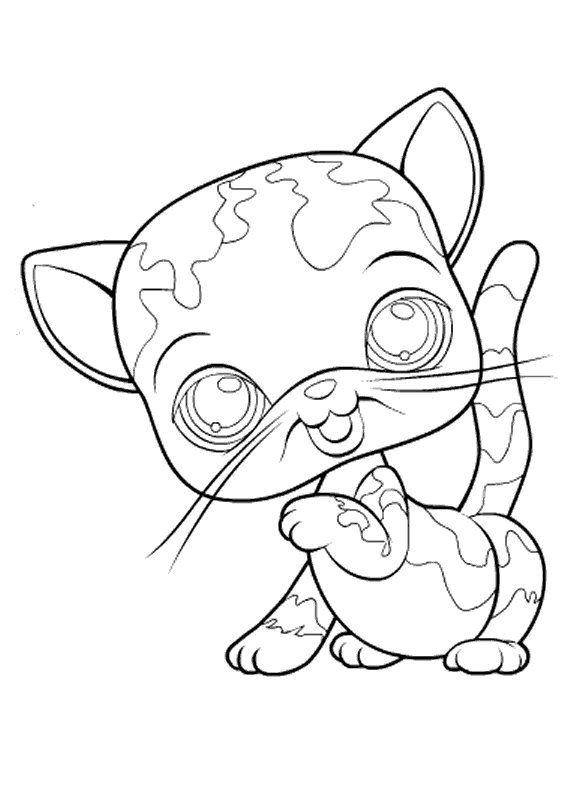 Little Pet Shop Coloring Pages 85 Cat Coloring Page Coloring Pages Free Cats