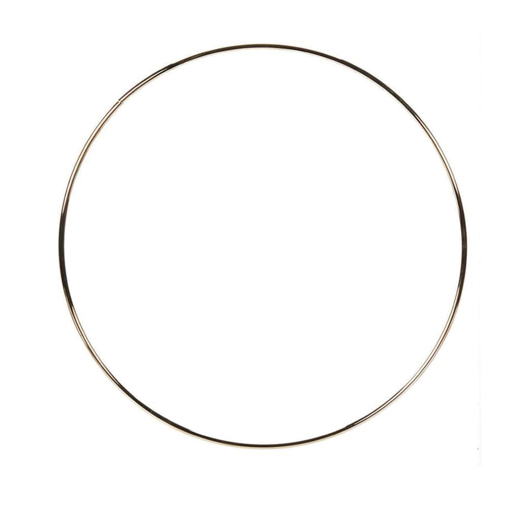 10-Inch Darice Gold Metal Ring
