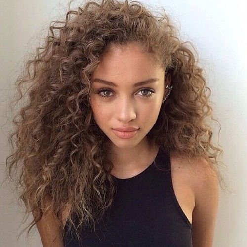 curly hair, girls, hair, makeup, tumblr | hair style | Pinterest ...