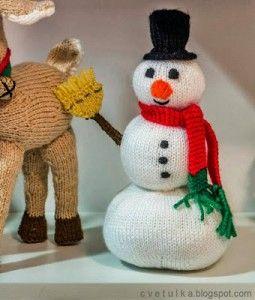 Frosty the Teddy Tejer patrón-hecha de lana de Aran