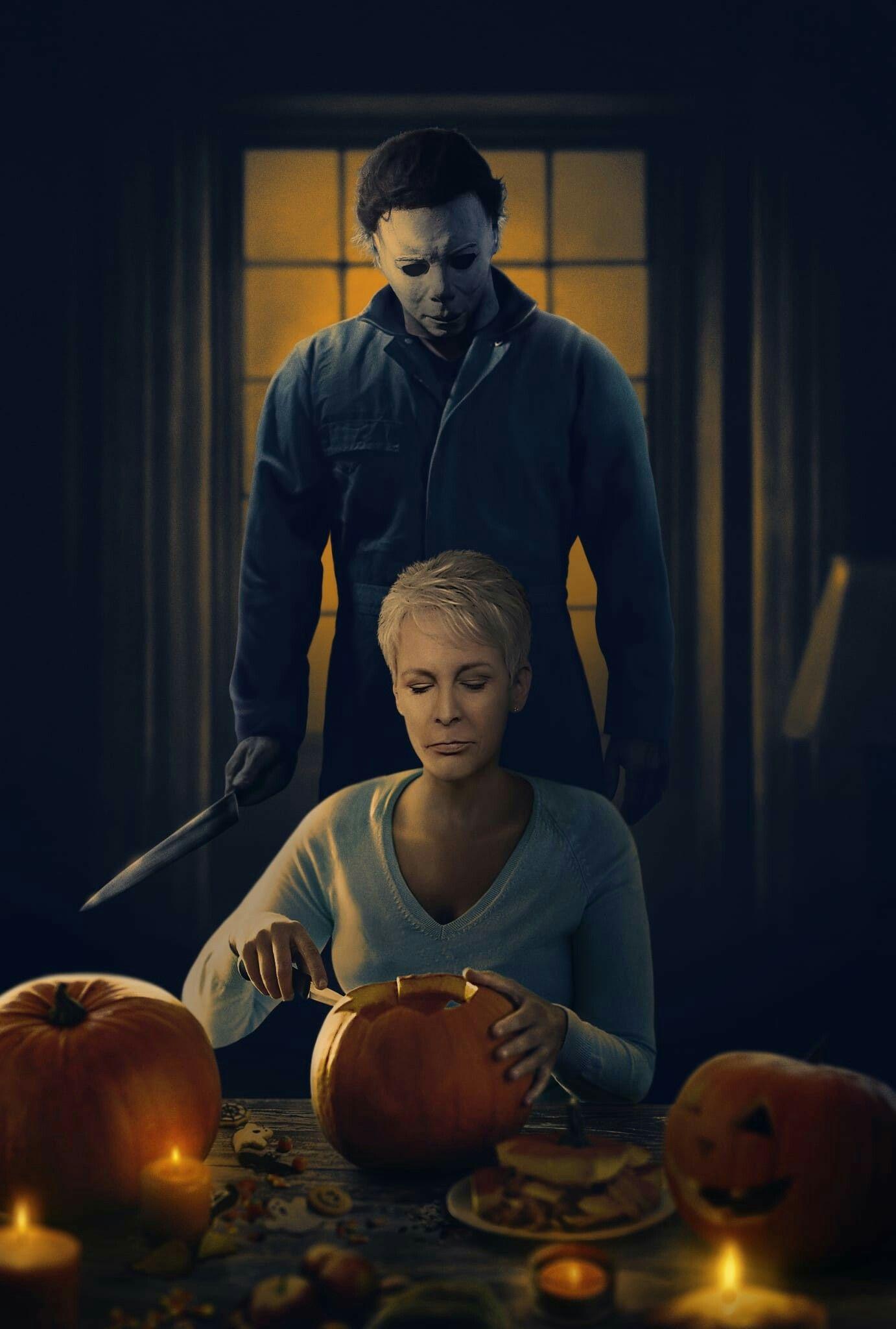 Halloween (2018) Textless movie poster Halloween