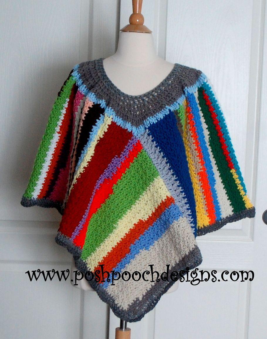 Scrap Happy Poncho By Sara Sach - Free Crochet Pattern - (ravelry ...