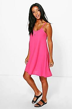 ¡Cómpralo ya!. Lucy Textured Swing Dress. Pared back day dresses are the perfect base for layering up this seasonNo off-duty wardrobe is complete without a casual day dress. Basic bodycon dresses are always a winner and  casual cami dresses a key piece for pairing with a polo neck, giving you that effortless everyday edge. Tone down the twinkle for day by teaming a sequin  slip dress with a jersey tee ? genius! So, if you ever get caught out for cocktails, this…