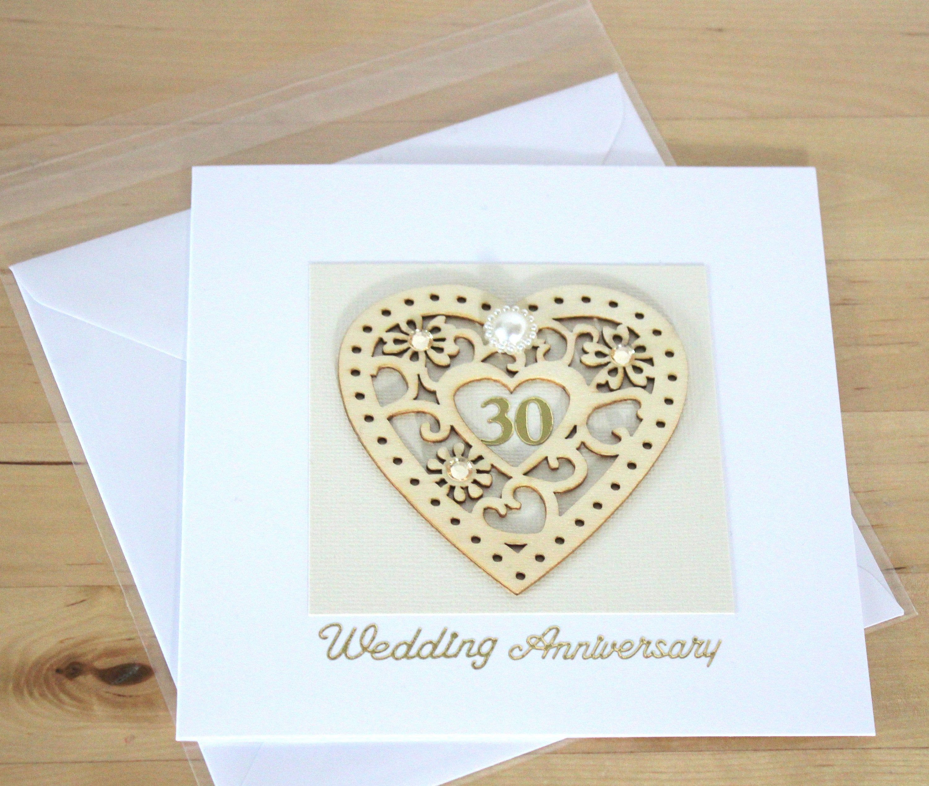 30th wedding anniversary cards for parents Ideas 2019
