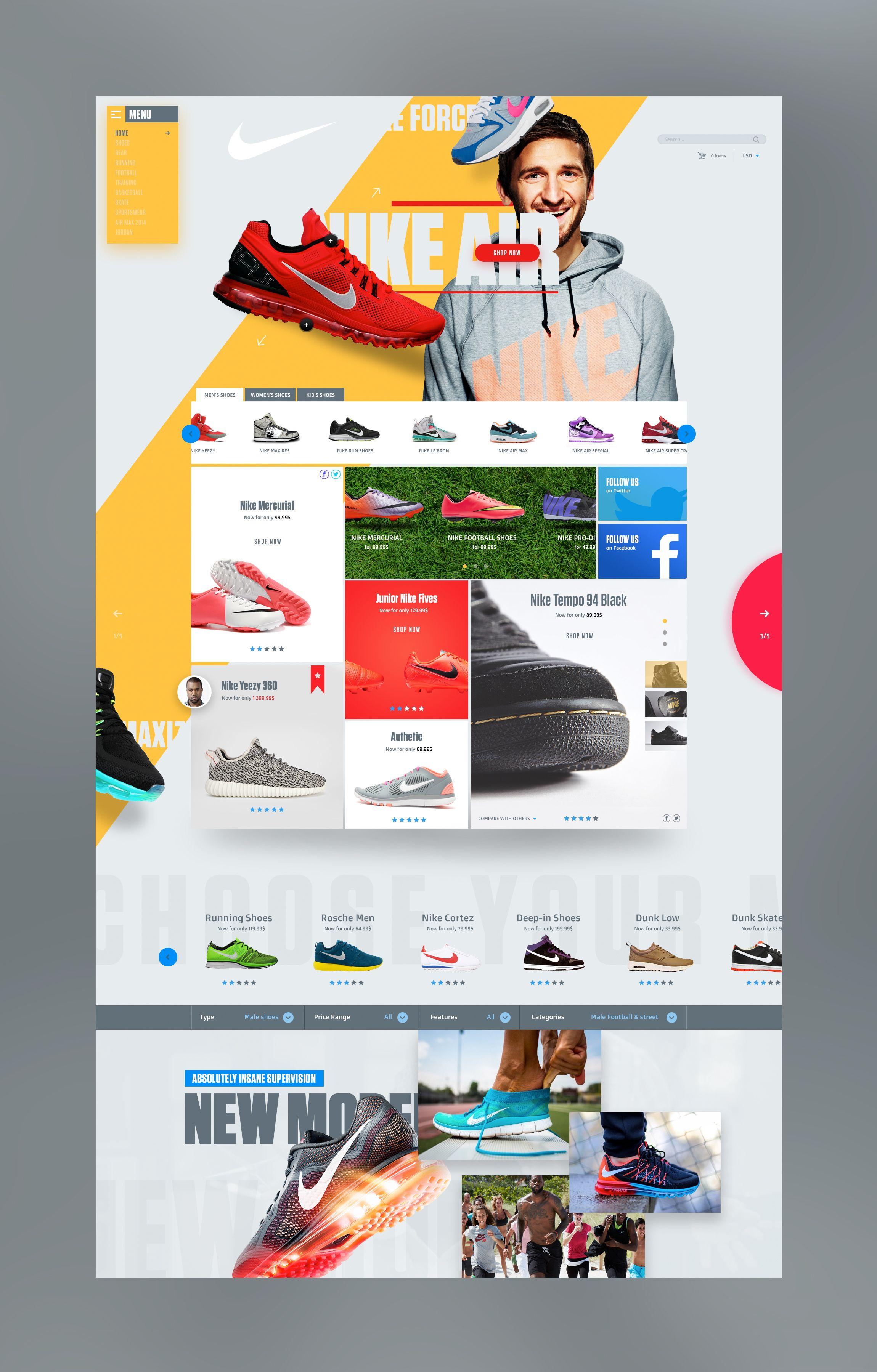 entregar Santuario reacción  nick.jpg by Vitali Zakharoff | Nike design, Creative web design, Business  website design