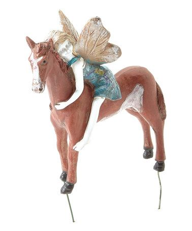 Another great find on #zulily! Fairy Horse Rider Figurine by