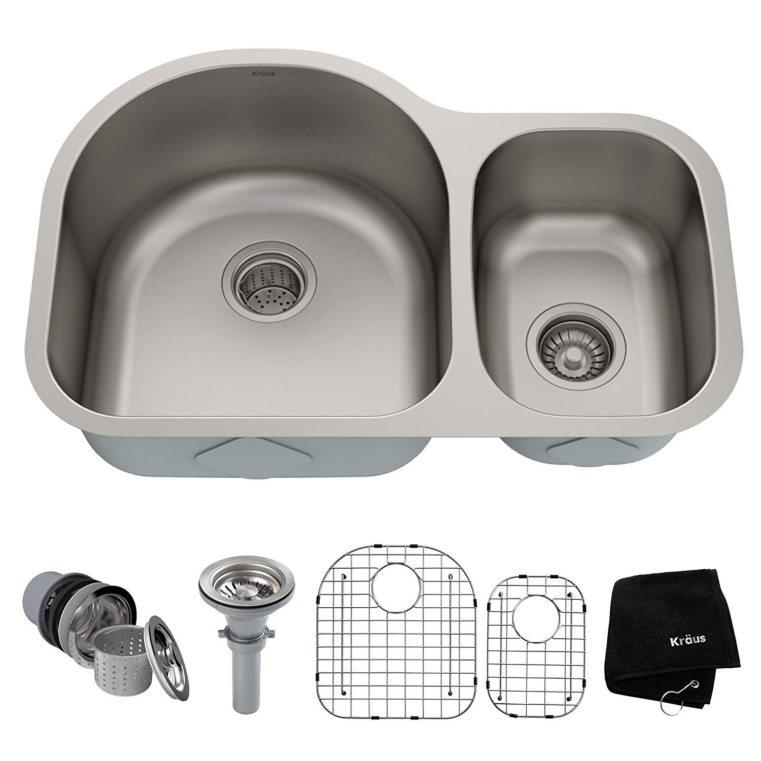 Kraus Kbu21 30 Inch Undermount 60 40 Double Bowl 16 Gauge Stainless Steel Kitchen Sink You Can Get Additional Details At The Ima Kitchen Fixtures In 2019