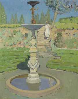 """""""Vedder Fountain, Sunlight,"""" Jane Peterson, oil on canvas, 30 x 24"""", private collection."""