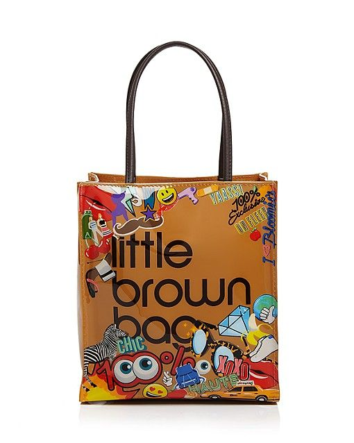 Emoji Little Brown Bag Tote